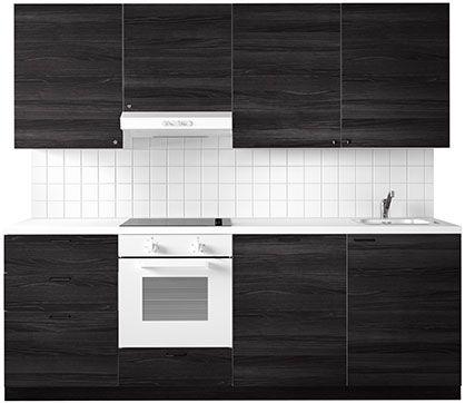 Schwarze Küche u2013 IKEA Kitchen Pinterest Küche ikea, schwarze - k chenzeile mit elektroger ten ikea