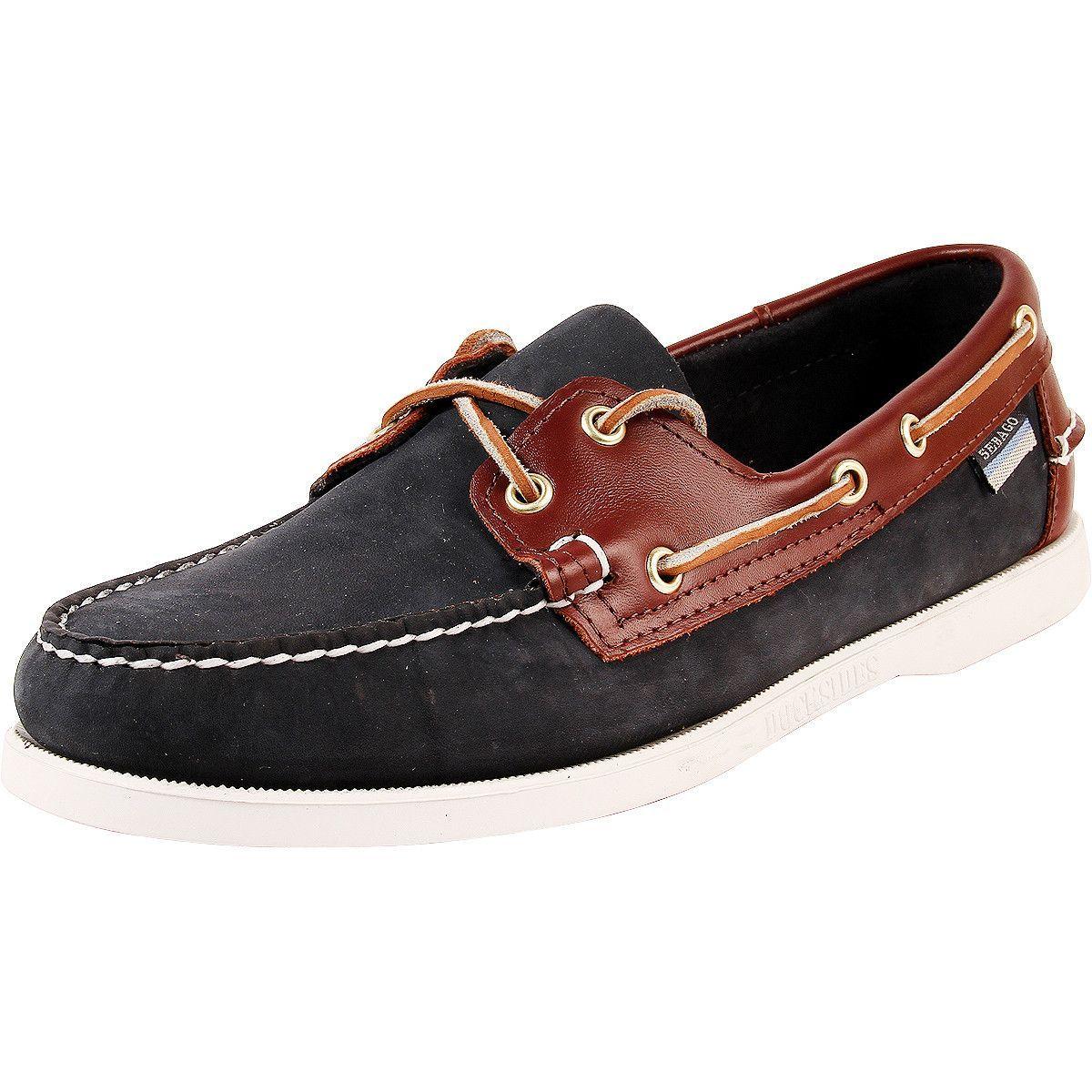 Sebago - Men's Spinnaker Leather Boat Shoes - Blue/Brown