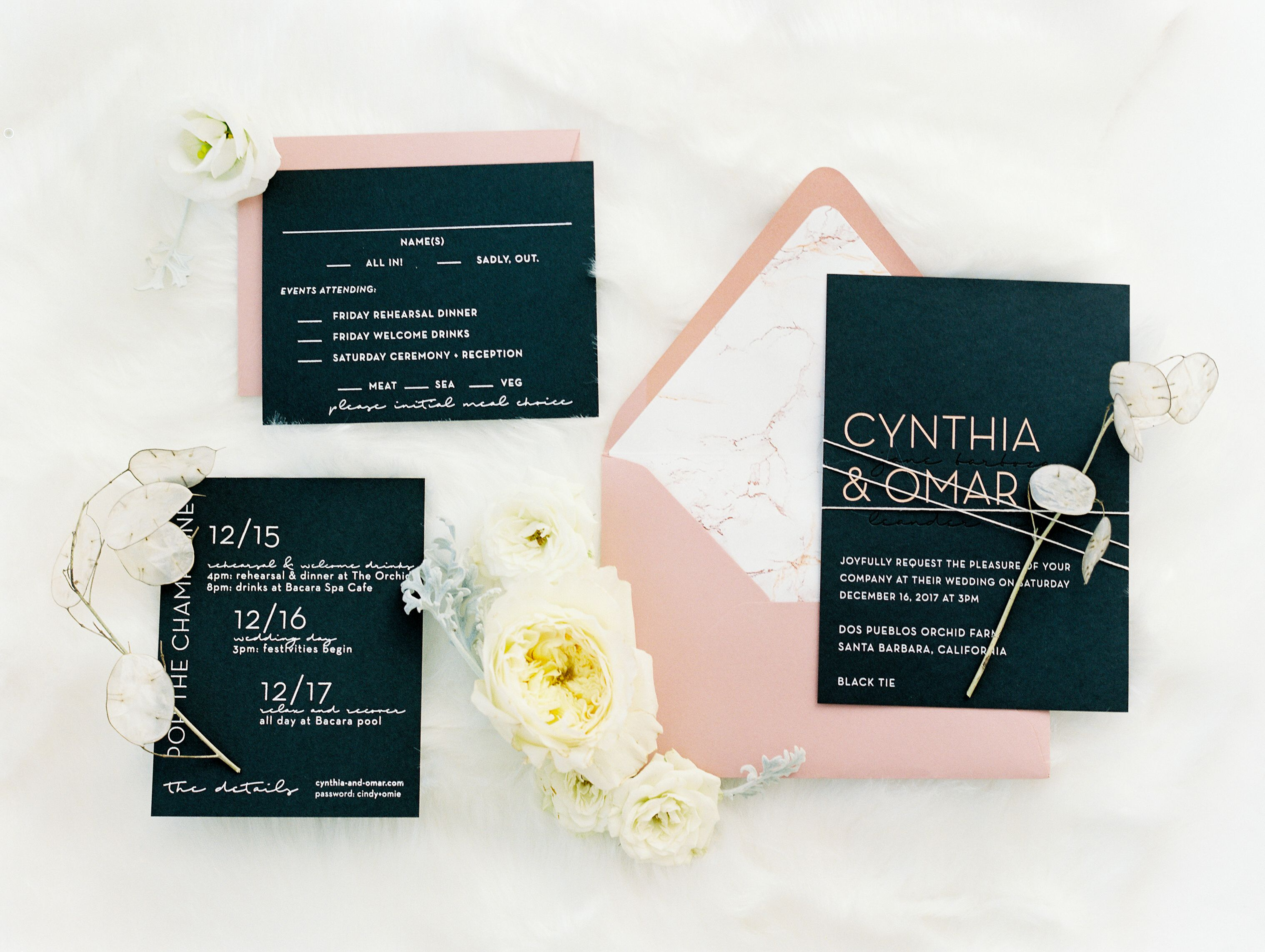 what does it mean when wedding invitation says black tie invited%0A This Gorgeous Black Tie Affair Came Together in    Hours