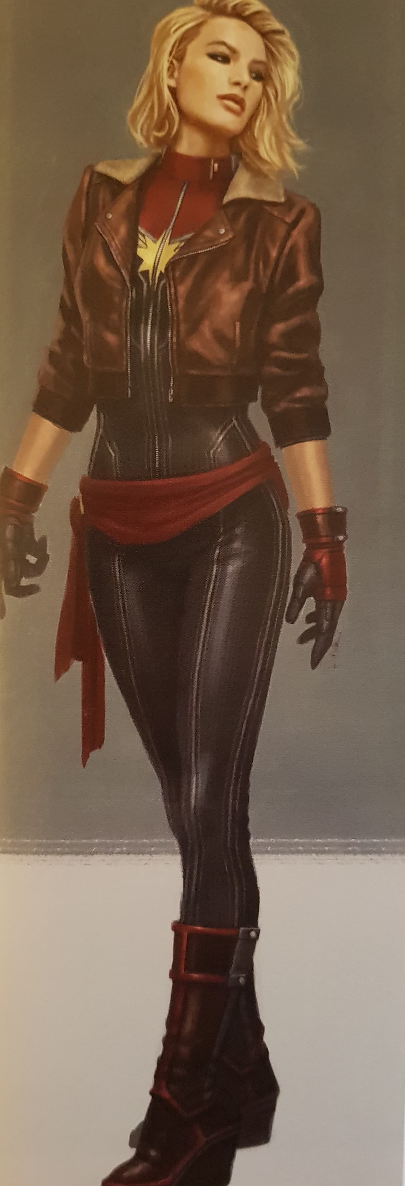 CAPTAIN MARVEL Concept Art Features Some Crazy Alternate Suit Designs And Her Binary Form