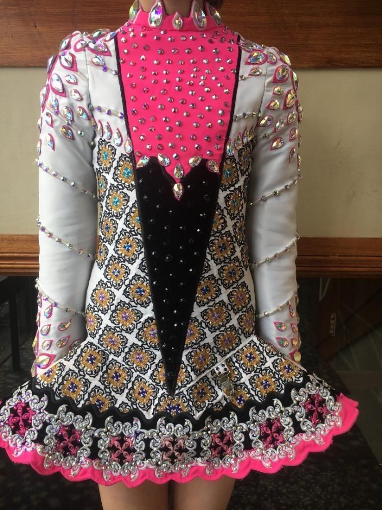 Beautiful Open Wings Dress U8-u10   Dance   Dresses, Irish