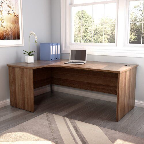 L-Shape Desk All Home Finish: Dark Walnut, Orientation