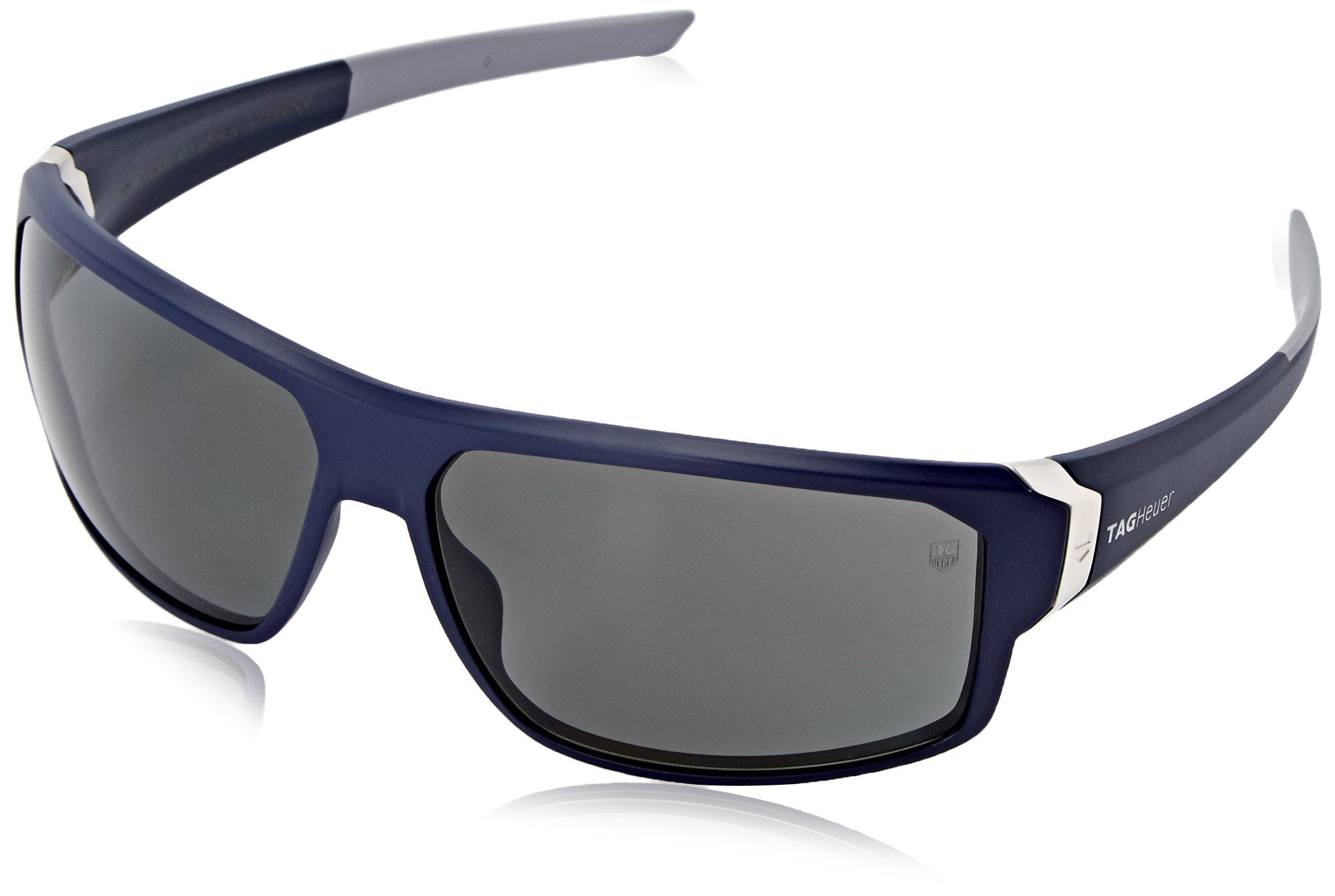 Tag Heuer Racer2 9223 106 Rectangular Sunglasses, Blue & Grey, 70 mm. Case Included^Lenses are prescription ready (Rx-able).