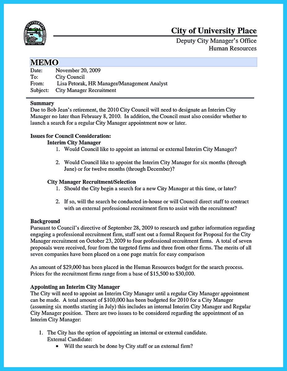 Internal Memo Template There Are So Many Other People That Will Compete With You To Gain .