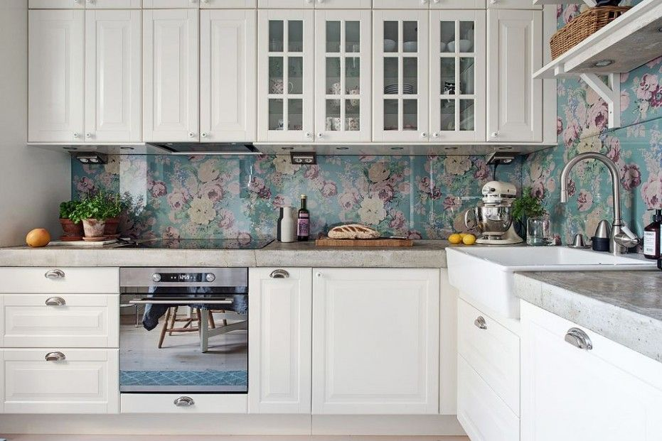 Attending Kitchen Backsplash Wallpaper Ideas Can Be A Disaster If You Forget These 4 Rules Backsplash Dapur Interior Dapur Desain Interior