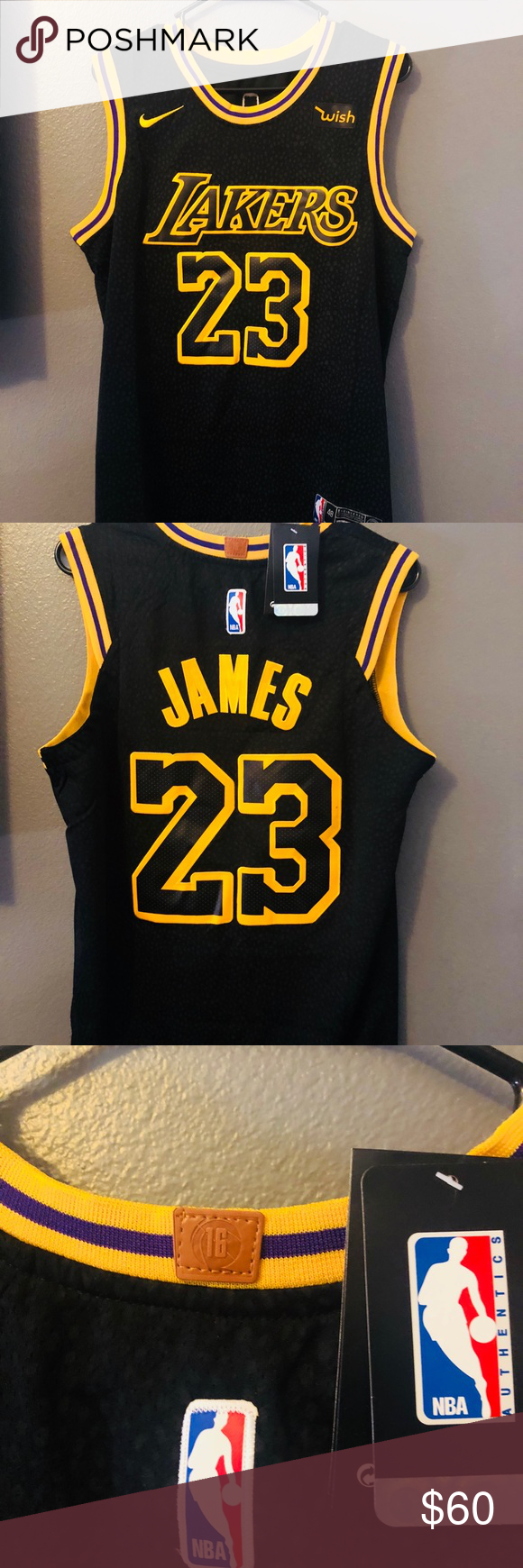 detailed look fed8d 3c7f8 Brand New Lebron Lakers City Jersey Sizes M,L 🔥🔥 NWT True ...