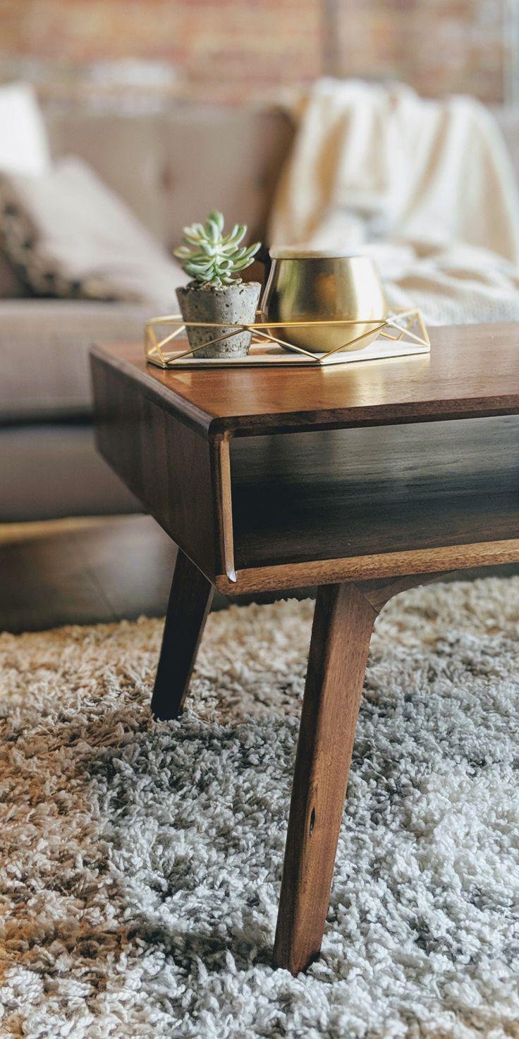 Modern Walnut Living Room Furniture: Mid Century Modern Coffee Table, Walnut Retro Coffee Table