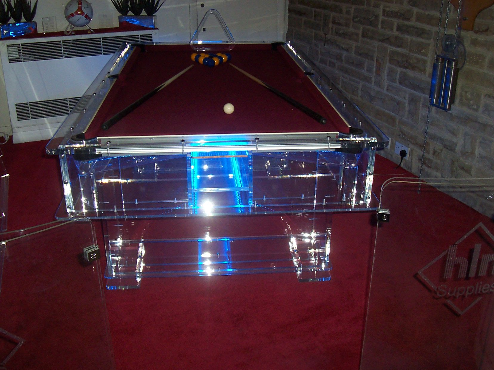 Acrylic Clear Pool Table Ideas For House Pinterest Pool Table - Clear pool table