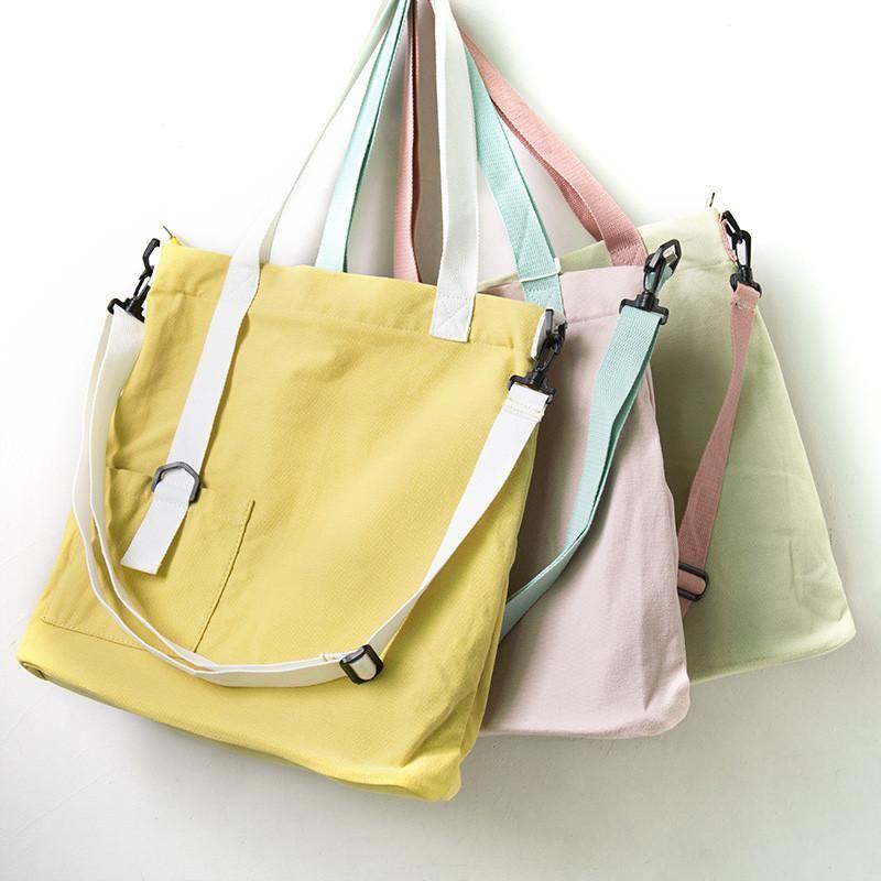 c803de6eeba Casual Large Capacity Women Canvas Shoulder Bag - Buykud