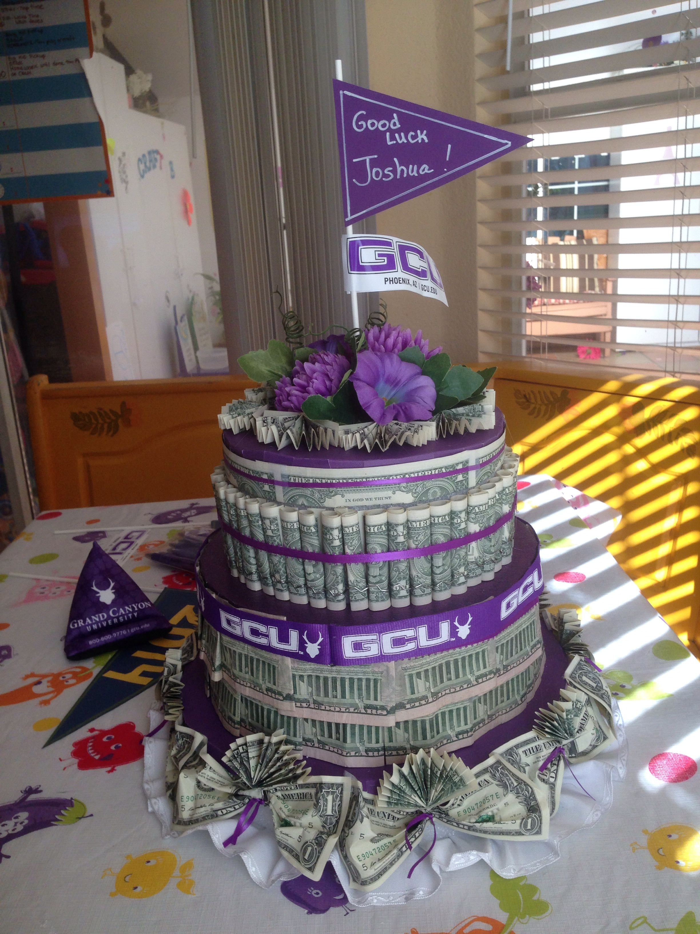 Fabulous Gcu Money Cake Wow That Is Actually Pretty Cool With Images Birthday Cards Printable Riciscafe Filternl