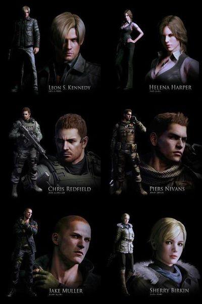 Un Cartel De Resident Evil 6 Muestra A Sus Seis Personajes