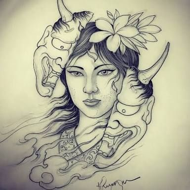 Resultado De Imagem Para Hannya Tattoo Com Imagens Hannya