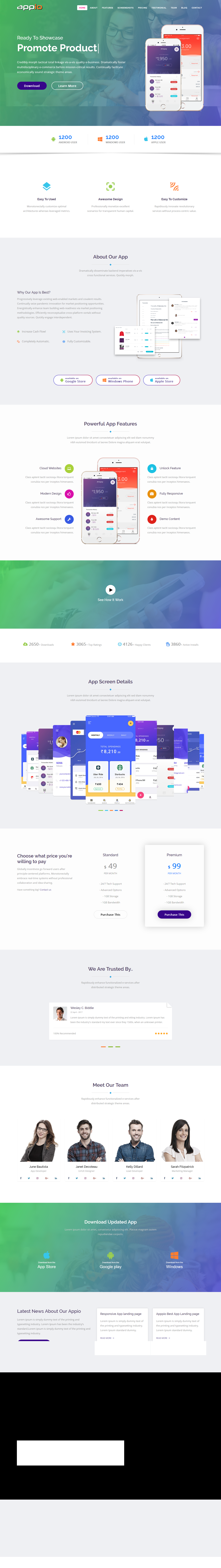 Appio app landing page html template template app and user appio is a powerful responsive seo friendly app landing html template it is 100 maxwellsz