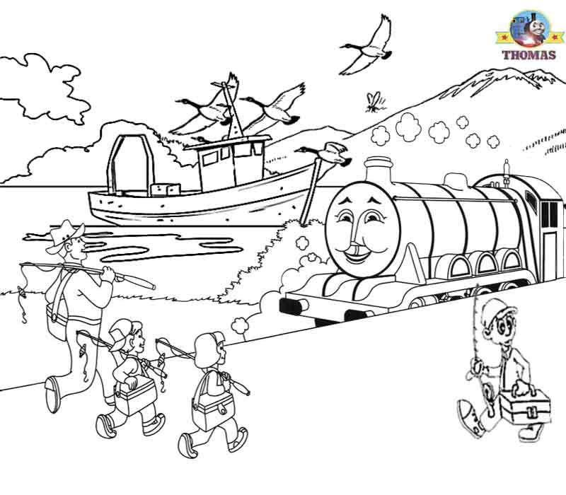 train coloring pages | Childrens pictures of Thomas the train ...