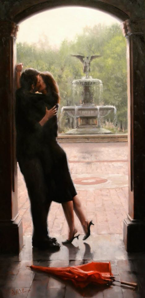 Daniel Del Orfano | Romantic paintings, Lovers art, Art of love