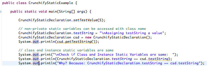 Java Static Methods, Variables, Static Block and Class with