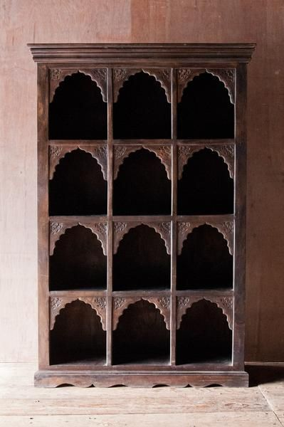 Nice Ornate 12 Cubby Indian Shelf   Bookshelves   Shop Nectar   1