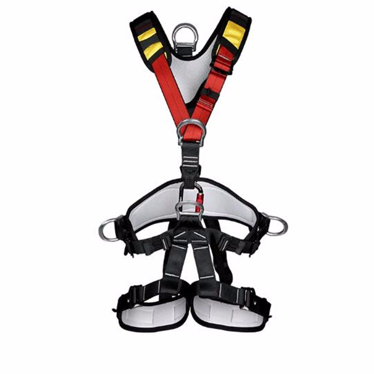 Buy Outdoor Rock Climbing Rappelling Mountaineering Full Body Safety Harness Wearing Seat Belt