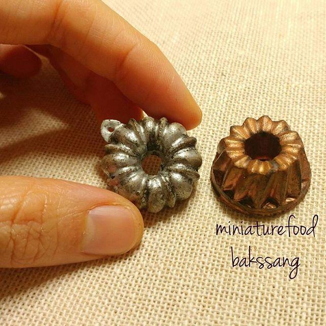 번트케익 팬  #미니어쳐#번트케익#점토#miniature #bundtcake #bundtcakepan#fimoclay #handmade #handcraft #ミニチュア