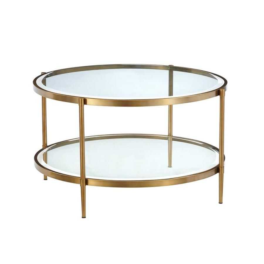 Casainc Clear Glass Round End Table In Gold Wf Ct 1353r Gl In 2020 Round Glass Coffee Table Coffee Table Round Gold Coffee Table [ 900 x 900 Pixel ]