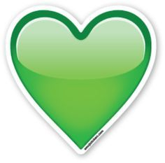 Corazon Verde Heart Emoji Emoji Emoji Stickers