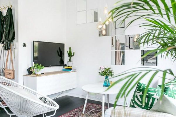 Como decorar un sal n muy muy peque o low cost living for Como decorar un apartamento muy pequeno