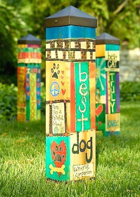 Vinyl Art Poles-8 Designs | Garden art, Gardens and Peace pole