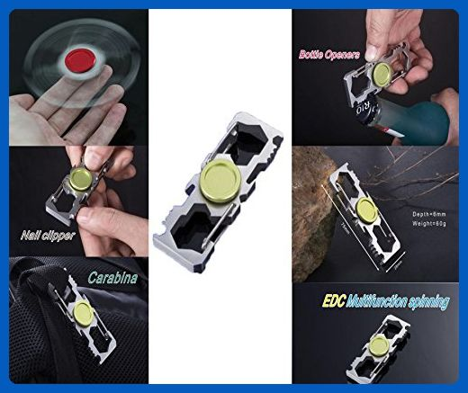 Multifunctional Finger Spinner Perfect Use as Keychain Wrench Bottle