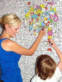 Arte y Arquitectura: Paredes para colorear en casa