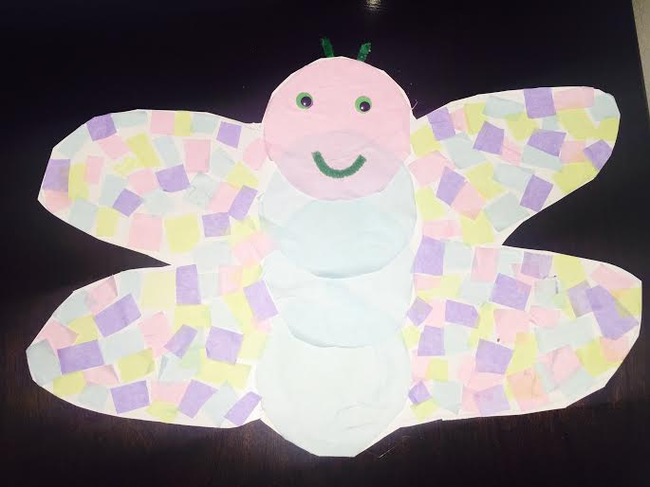 Tissue Paper Butterfly Mosaic | Macaroni Kid