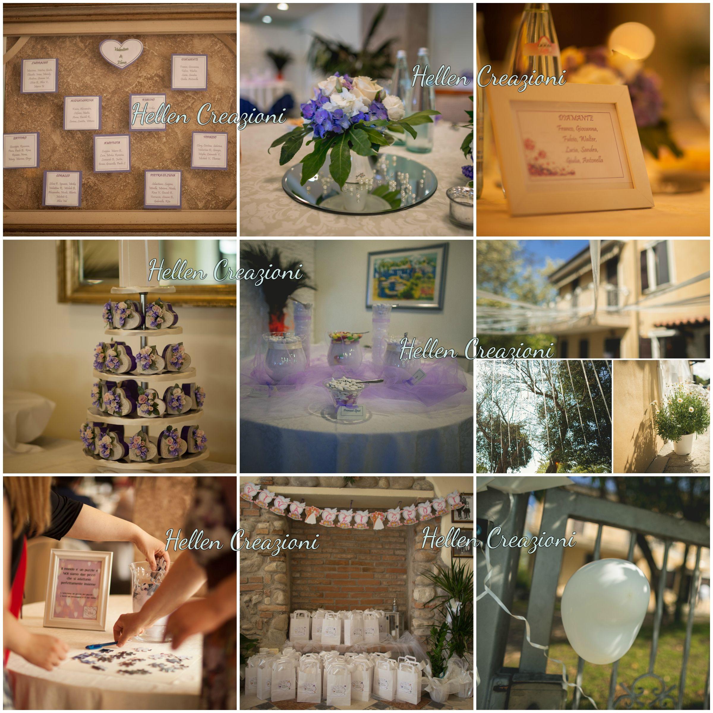 Allestimento location, confettata, tableau mariage, guest book, mariage bag, bomboniere, matrimonio, lilla