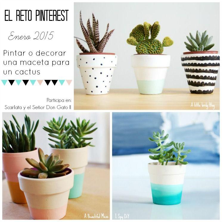 Scarlata y el se or don gato ii elretopinterest enero - Ideas para decorar macetas ...