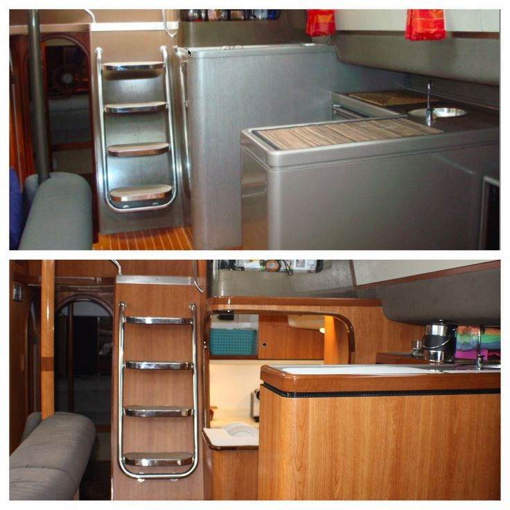 Boat Interior Design Remodelling With VinylInnovative Marine Coatings