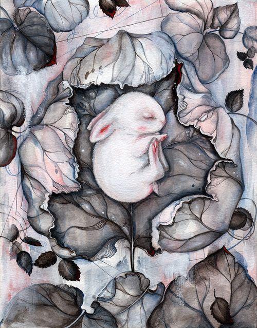 ART / ILLUSTRATION by Marjolein Caljouw: \'Wintersleep\' available in online auction now.