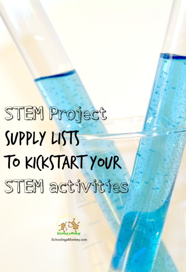 Stem Project Supply List Ideas  Stem Projects Stem Activities