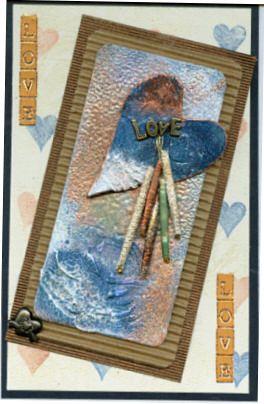Card made using Embossing Powder