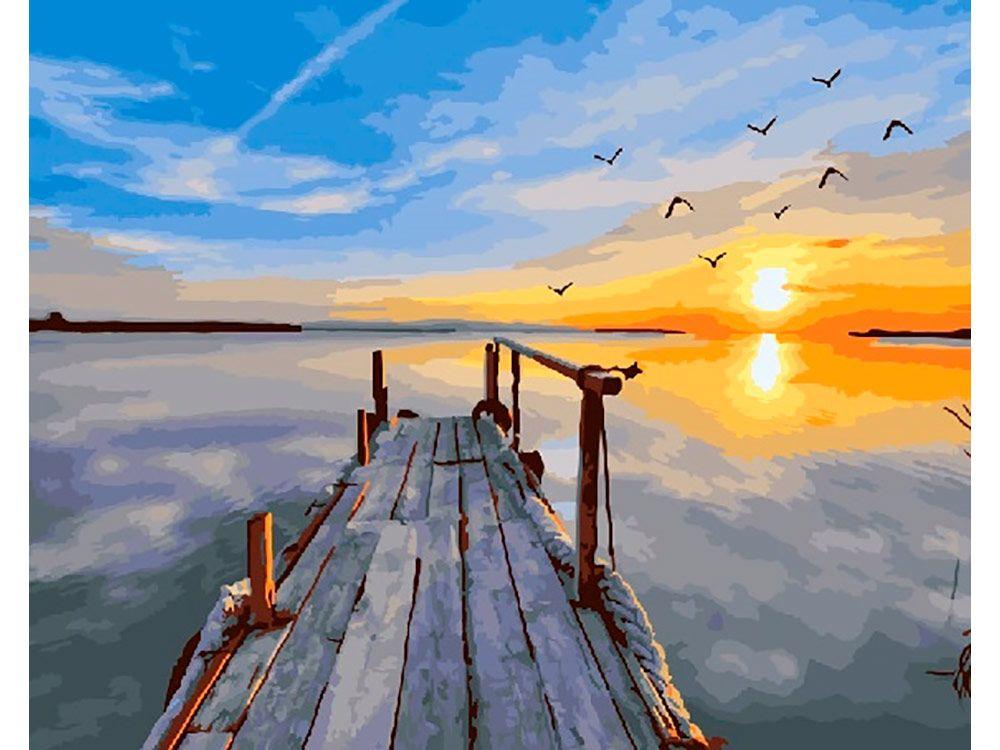 Картина по номерам «Рассвет на причале» | Пейзажи, Картины ...