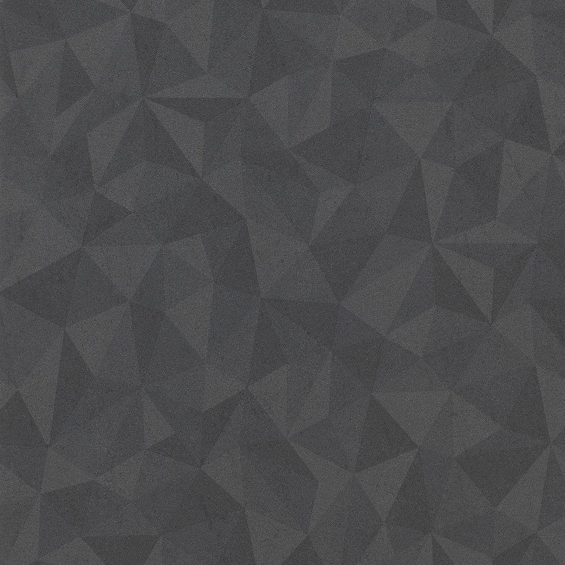 Papier A Peindre Motif papier peint aldric, vinyle sur intissé motif effet 3d, noir