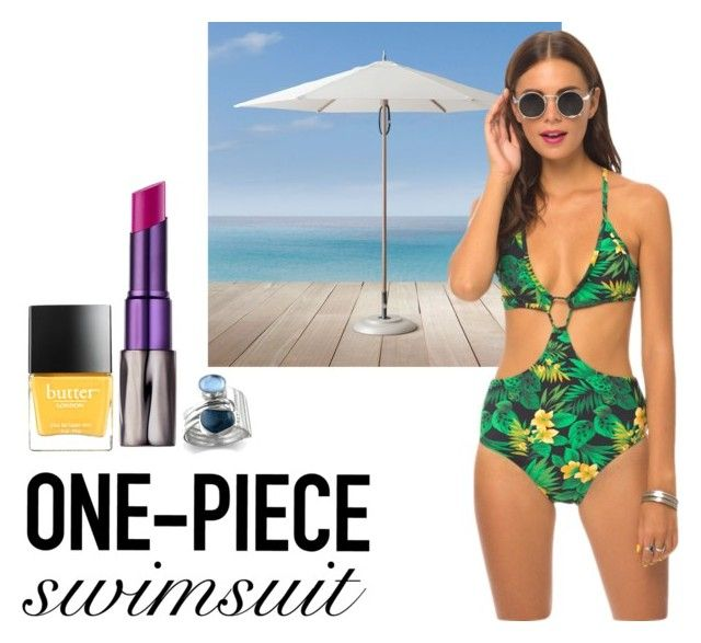 """""""one piece"""" by fallulah ❤ liked on Polyvore featuring mode, Restoration Hardware, Motel, Butter London en Urban Decay"""
