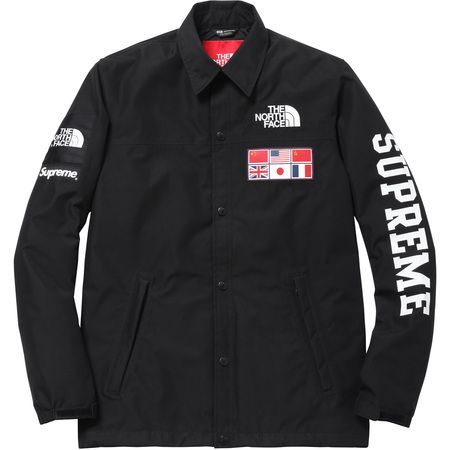 The Northface Supreme Expedition Coaches Jacket Black North Face Jacket Fashion Coach Jacket