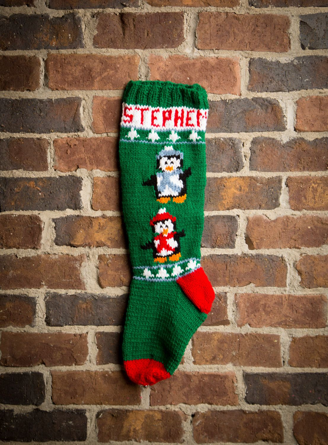 Personalized Christmas Stockings, Personalized Stockings, Knit ...