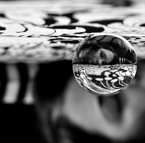 Interesting photo idea - flip a crystal ball.