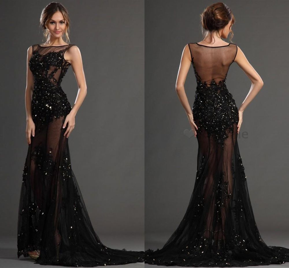 Mermaid 2015 Long Bead Elegant Pageant Formal Evening Dress Party ...