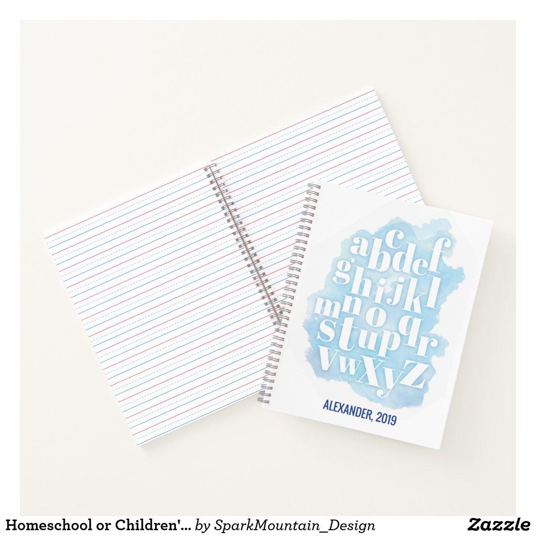 Homeschool Or Children S Abc Handwriting Practice Notebook