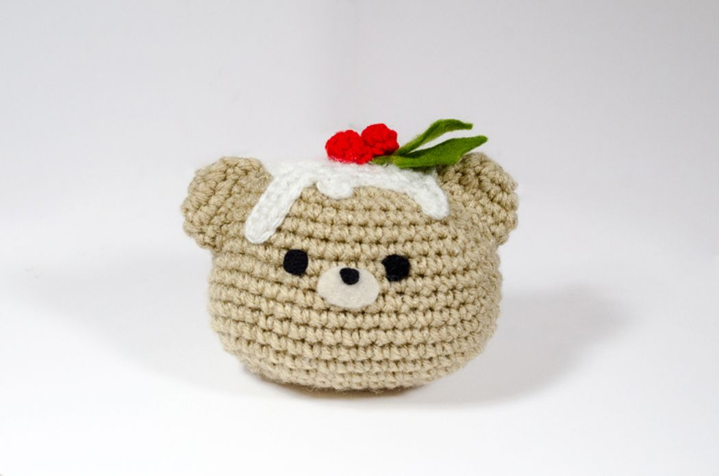 Christmas Pudding Bear Free Crochet Pattern By Picot Pals
