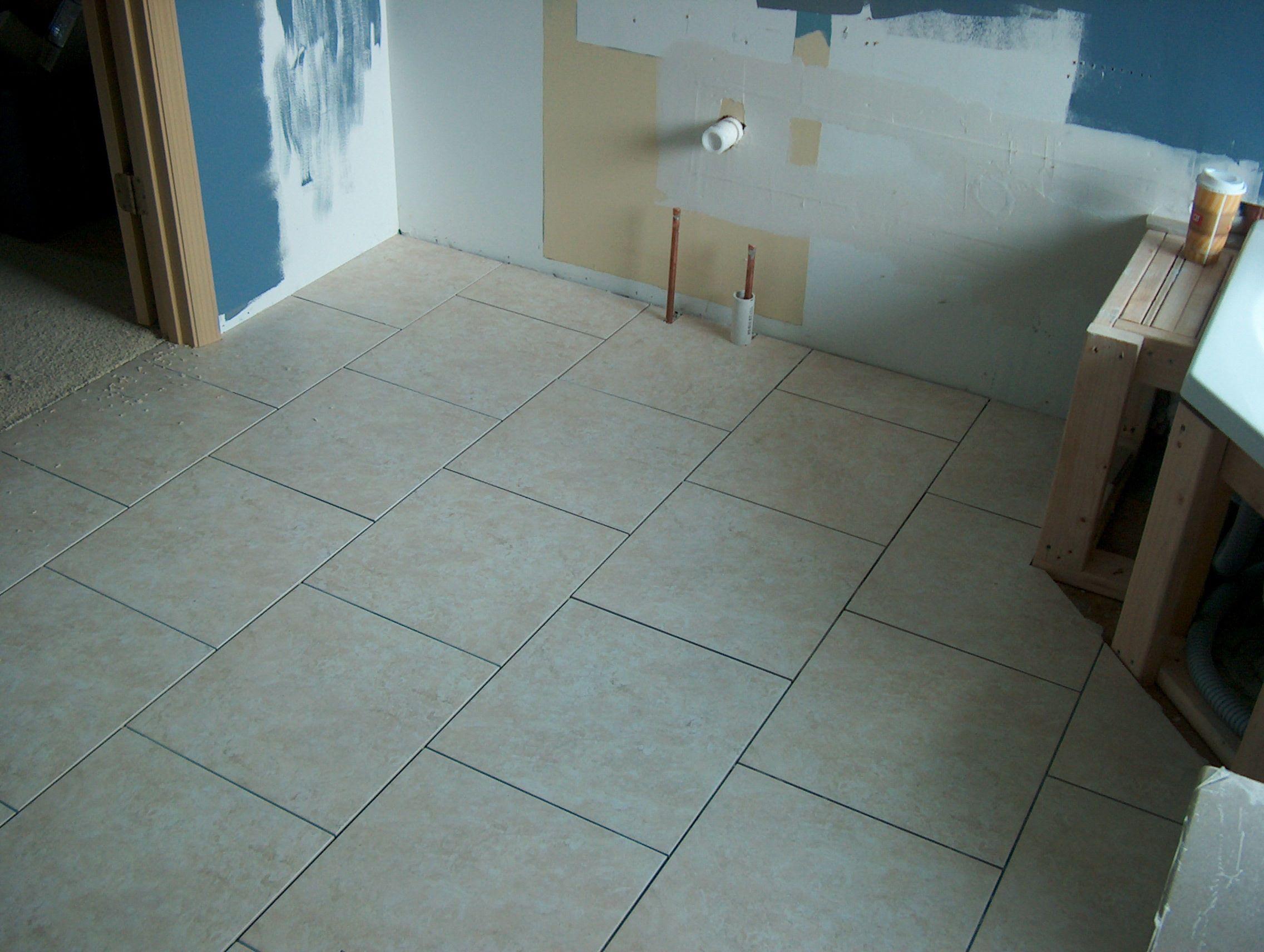 Ceramic floor tile - brick pattern | Bathroom Updates | Pinterest ...
