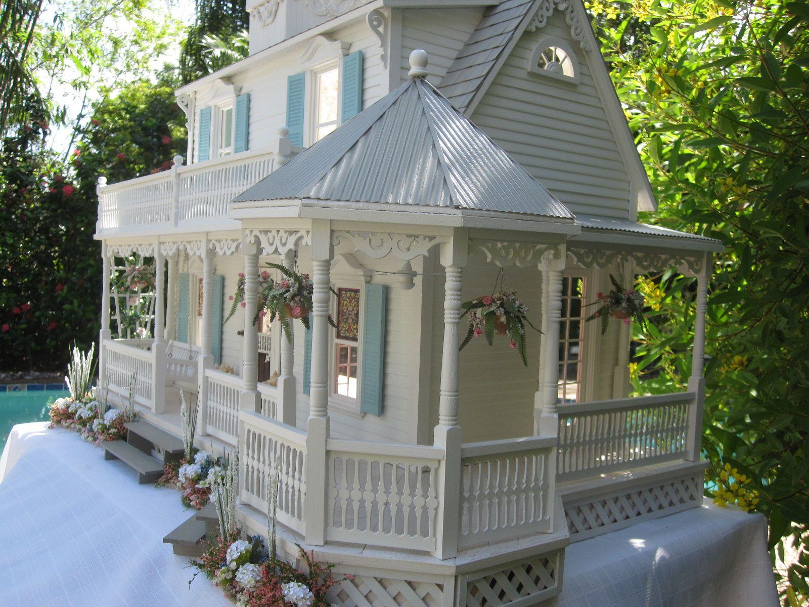 Victorian miniature houses - The Sea Glass Victorian Cottage Dollhouse This Is The Sea Glass Cottage Dollhouse My Vision For This House Was A Wonderful Light