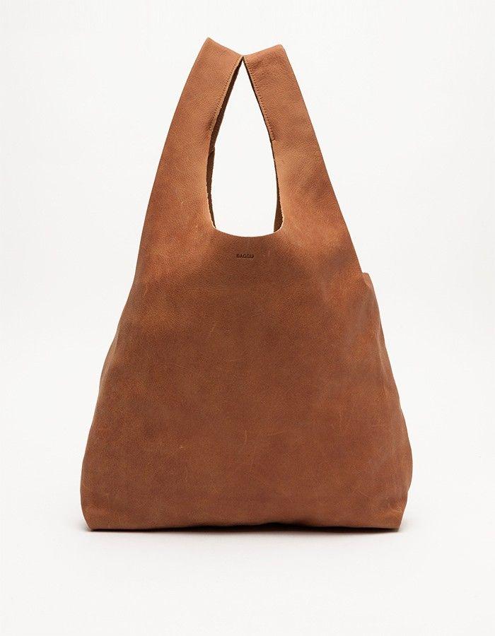 Baggu Bag In Brown Leather | Taschen