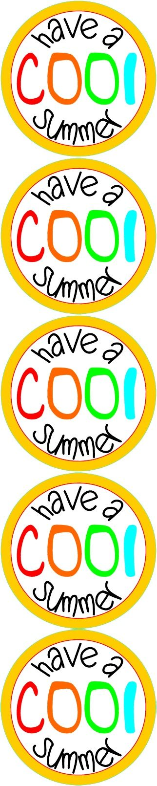 Striking image with have a cool summer printable