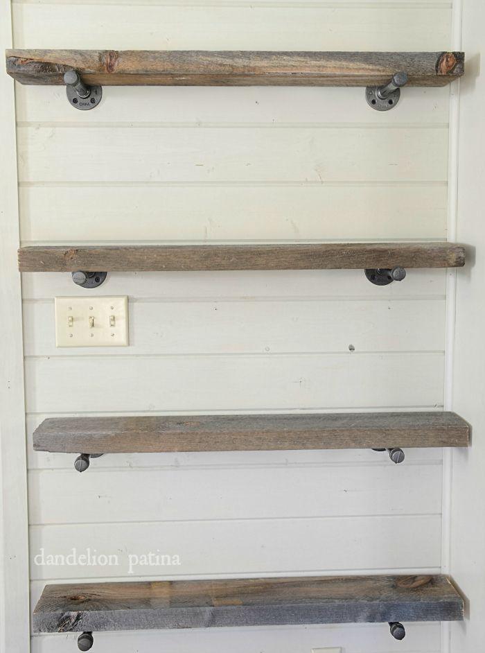 DIY Faux Floating Shelves Small Bathroom Shelves And Easy - Diy build industrial hanging shelf